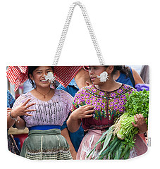 Fruit Sellers In Antigua Guatemala Weekender Tote Bag