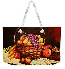 Fruit Wickerbasket Etc. Weekender Tote Bag