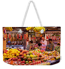 Fruits At Market Stalls, La Boqueria Weekender Tote Bag by Panoramic Images