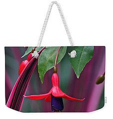 Fuchsia Delight Weekender Tote Bag by Byron Varvarigos