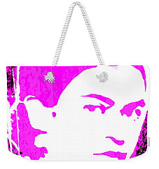 Weekender Tote Bag featuring the mixed media Fuchsia Frida by Michelle Dallocchio