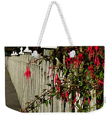 Fuchsias  And Fence Posts Weekender Tote Bag