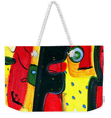 Weekender Tote Bag featuring the painting Fuego by Stephen Lucas
