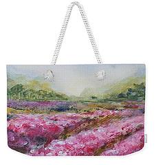 Weekender Tote Bag featuring the painting Full Bloom by Jane  See