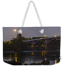 Full Moon And Jupiter-1 Weekender Tote Bag