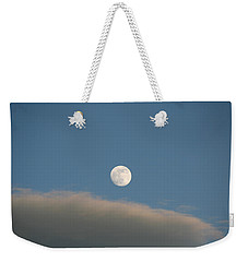 Weekender Tote Bag featuring the photograph Full Moon by David S Reynolds