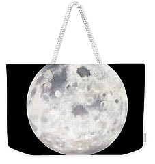 Weekender Tote Bag featuring the painting Full Moon In Black Night by Janice Dunbar