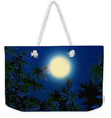 Full Moon Weekender Tote Bag by Klara Acel