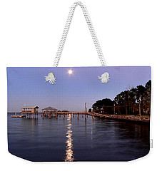 Full Moon On The Bay Weekender Tote Bag