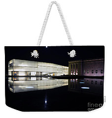 Full Moon Over Nelson Atkins Museum In Kansas City Weekender Tote Bag
