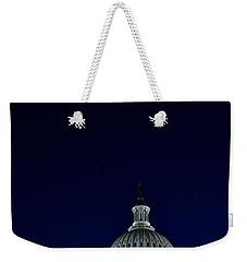 Full Moon Over Us Capitol Weekender Tote Bag