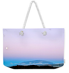 Full Moon Rising Over Mauna Kea Kona Side Weekender Tote Bag