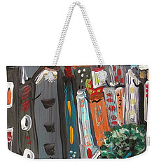 Weekender Tote Bag featuring the painting Full Moon-wind In The Tree by Mary Carol Williams