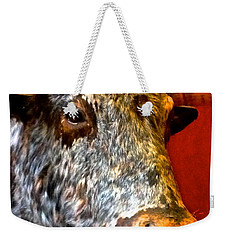 Weekender Tote Bag featuring the photograph Full Of Bull by Dee Dee  Whittle