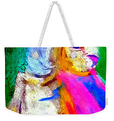 Funky Barn Owl Art Print Weekender Tote Bag