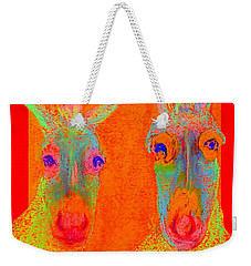 Funky Donkeys Art Prints Weekender Tote Bag