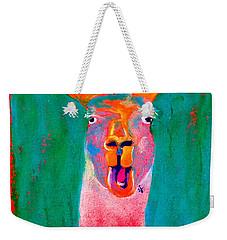 Funky Llama Art Print Weekender Tote Bag
