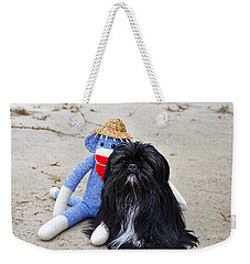 Funky Monkey And Sweet Shih Tzu Weekender Tote Bag