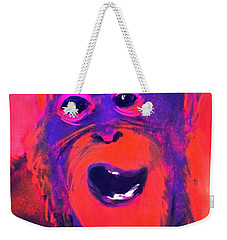 Funky Monkey Happy Chappy Weekender Tote Bag