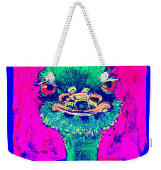 Funky Ostrich Cool Dude Art Prints Weekender Tote Bag