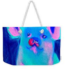 Funky Piggy Blue Weekender Tote Bag