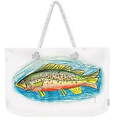Funky Trout Weekender Tote Bag