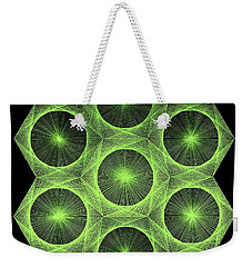 Weekender Tote Bag featuring the drawing Fusion  by Jason Padgett