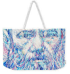 Fyodor Dostoyevsky / Colored Pens Portrait Weekender Tote Bag by Fabrizio Cassetta