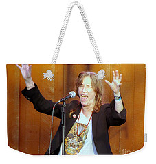 Weekender Tote Bag featuring the photograph G-l-o-r-i-a by Ed Weidman