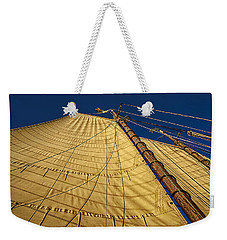 Gaff Rigged Mainsail Weekender Tote Bag by Marty Saccone