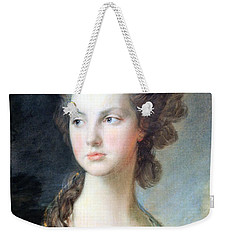 Gainsborough's The Hon. Mrs. Thomas Graham Up Close Weekender Tote Bag by Cora Wandel