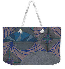 Weekender Tote Bag featuring the drawing Galactic by Kim Sy Ok