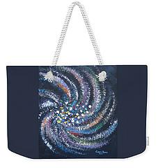 Weekender Tote Bag featuring the painting Galaxy Swirl by Judith Rhue
