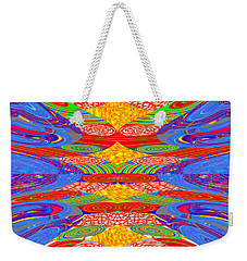 Galaxy Transit Union Ufo Docking Station Fantasy 2050 Art Background Designs  And Color Tones N Colo Weekender Tote Bag