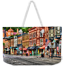 Galena Main Street Early Summer Morning Weekender Tote Bag