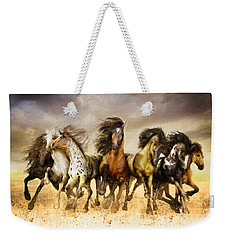 Galloping Horses Full Color Weekender Tote Bag