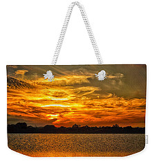 Galveston Island Sunset Dsc02805 Weekender Tote Bag