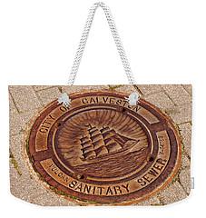 Galveston Texas Manhole Cover Weekender Tote Bag by Connie Fox