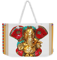 Ganapati Ganesh Idol Hinduism Religion Religious Spiritual Yoga Meditation Deco Navinjoshi  Rights M Weekender Tote Bag