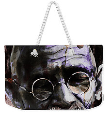 Weekender Tote Bag featuring the painting Gandhi by Laur Iduc