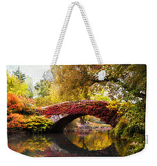 Weekender Tote Bag featuring the photograph Gapstow Bridge  by Jessica Jenney
