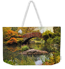 Weekender Tote Bag featuring the photograph Gapstow Bridge Serenity by Jessica Jenney