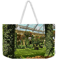 Weekender Tote Bag featuring the photograph Garden Atrium In Shadow by Jean Goodwin Brooks