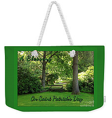 Garden Bench On Saint Patrick's Day Weekender Tote Bag