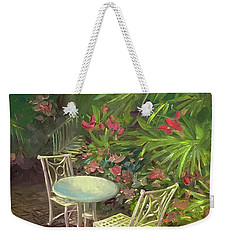 Garden Conversation Weekender Tote Bag