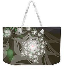 Weekender Tote Bag featuring the digital art Garden Echos by Elizabeth McTaggart