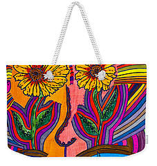 Garden Face - Lotus Pond - Daisy Eyes Weekender Tote Bag