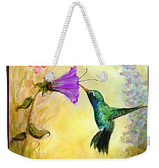 Garden Guest In Brown Weekender Tote Bag