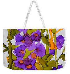 Garden Of Hollyhocks Weekender Tote Bag