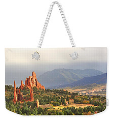 Weekender Tote Bag featuring the photograph Garden Of The Gods Cathedral I by Lanita Williams